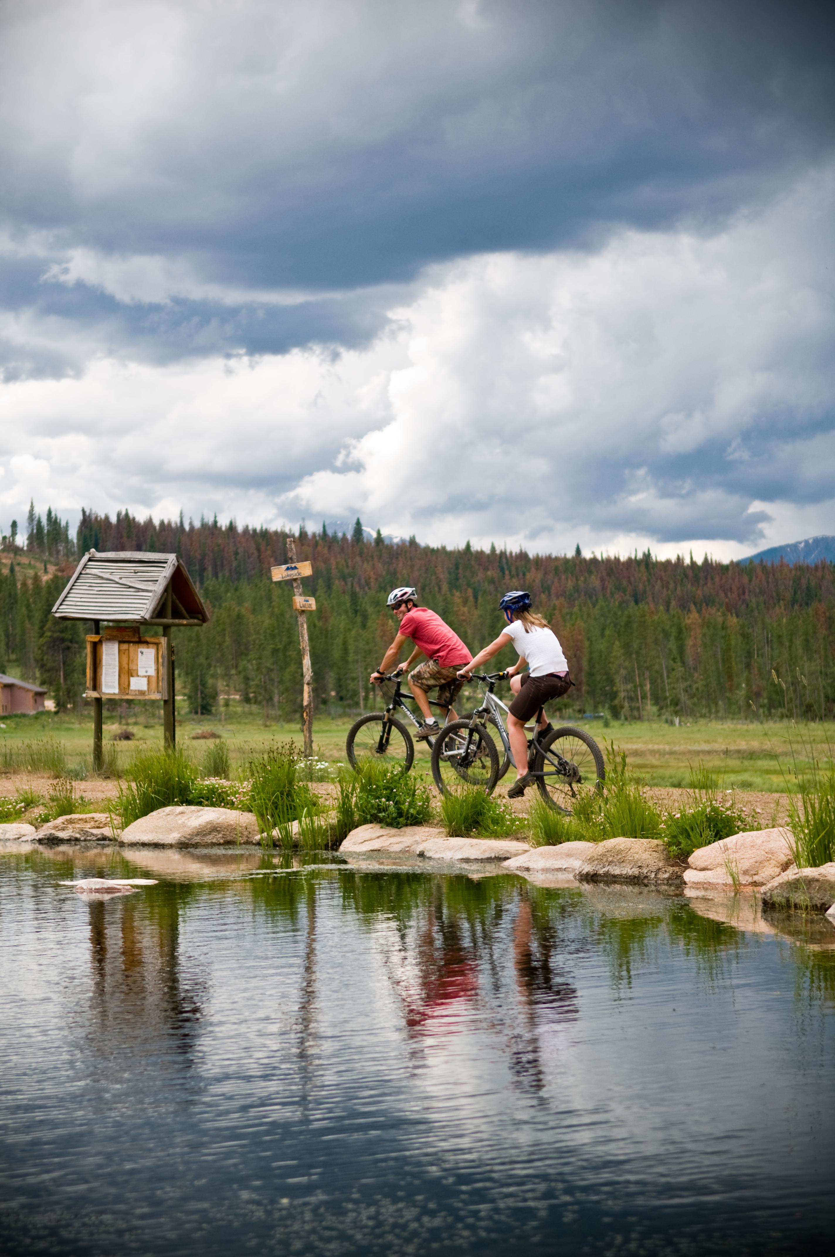 Biking at Devil's Thumb Ranch