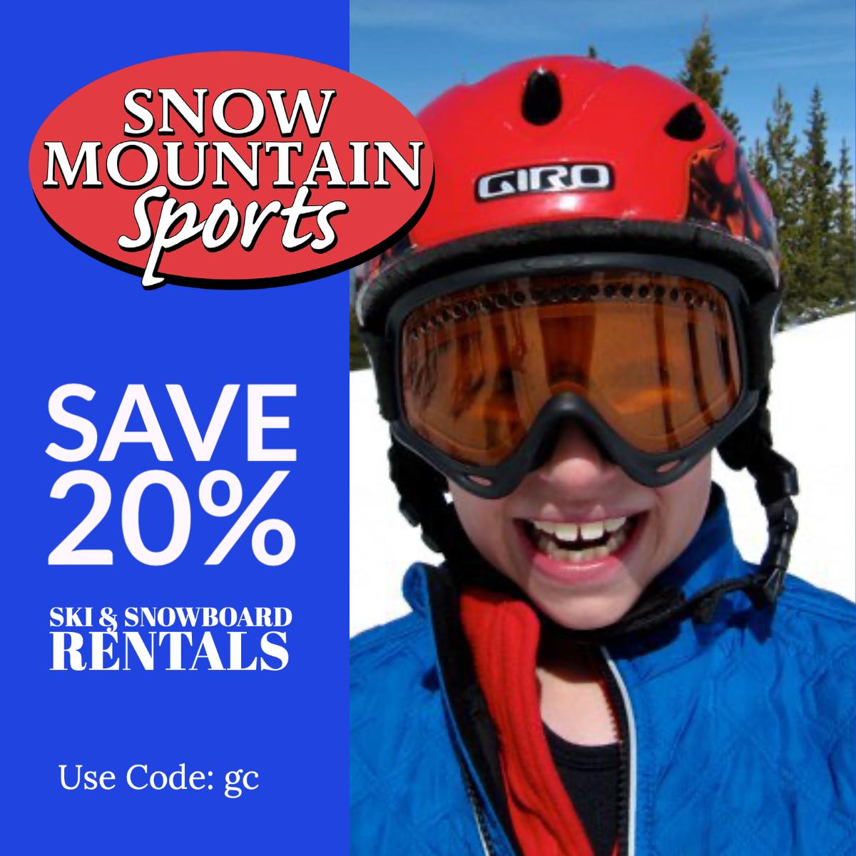 Save 20% Winter Park Ski Rental Snow Mountain Sports